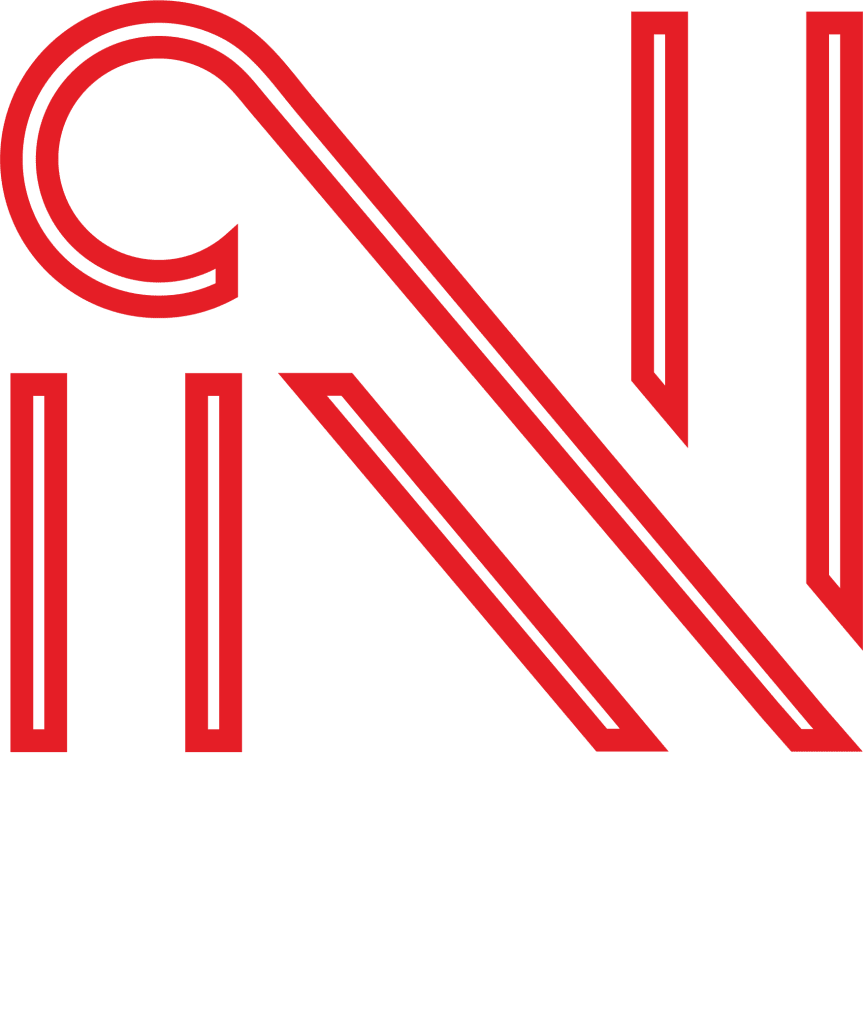 Ngawaka Group portrait logo in white and red